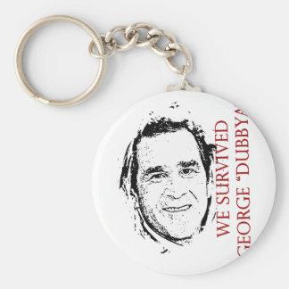 """We Survived George """"dubbya"""" Bush Basic Round Button Keychain"""