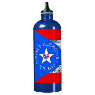 WE SURVIVED HURRICANES 2017 WATER BOTTLE