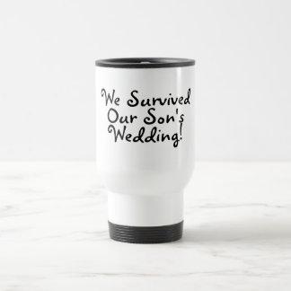 We Survived Our Sons Wedding Travel Mug