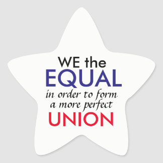 We the Equal Star Sticker