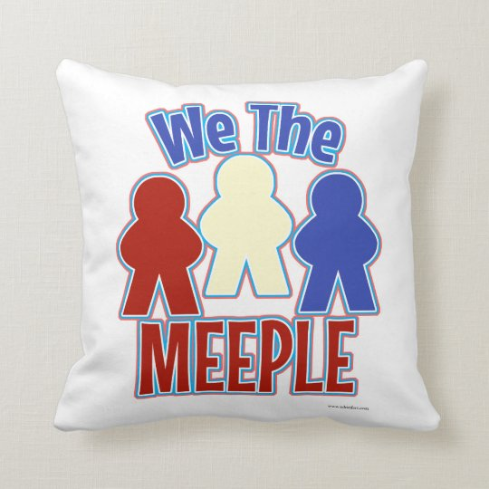 We the Meeple Gamer Style Throw Pillow