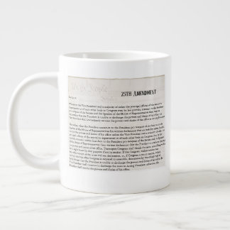 We the People 25th Amendment Constitution Resist Large Coffee Mug