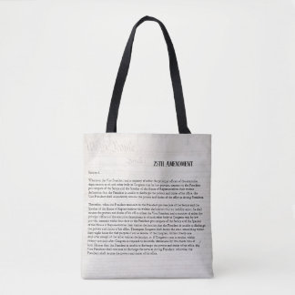 We the People 25th Amendment Constitution Resist Tote Bag