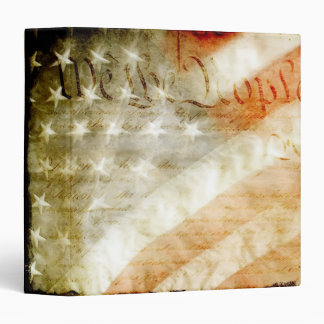 "We the People American Flag 1.5"" Photo Album Vinyl Binders"