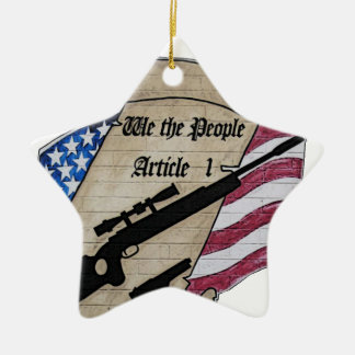( We The People ) Article 1 2nd Amendment Guns and Ceramic Ornament