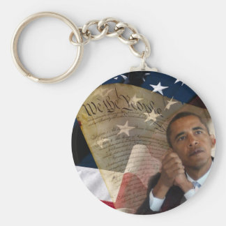 We the People...Barack Obama & the Constitution Basic Round Button Keychain