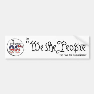 """""""We the People"""" Bumper Sticker"""