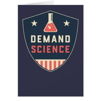 We the People Demand Science in America Card