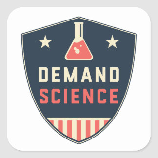 We the People Demand Science in America Square Sticker
