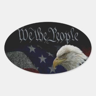 We The People Emblem Oval Sticker