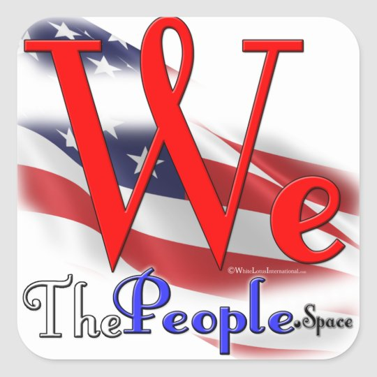 We The People Flag Logo Sticker