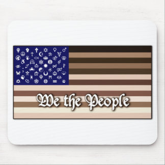 We the People Flag Mouse Pad