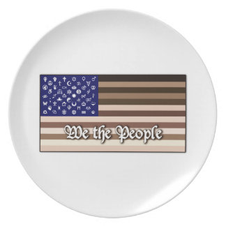 We the People Flag Plate