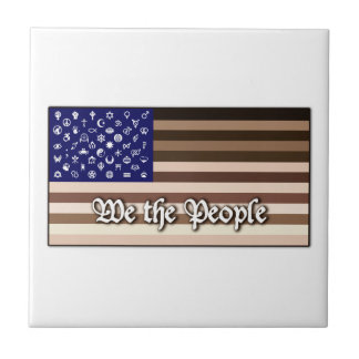We the People Flag Tile