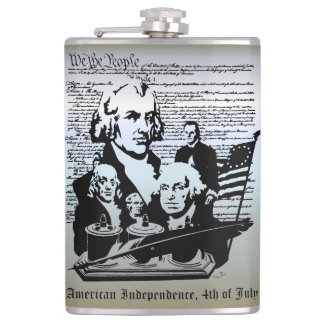 We The People, Independence 4th of July Hip Flask