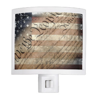 We The People Industrial American Flag Night Light