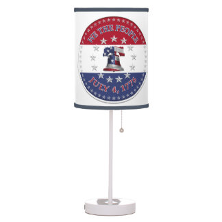 We The People July 4 1776 Bell with 13 & 50 Stars Table Lamp