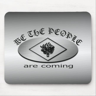 We the People Metallic Shield Logo with Torch Mouse Pad