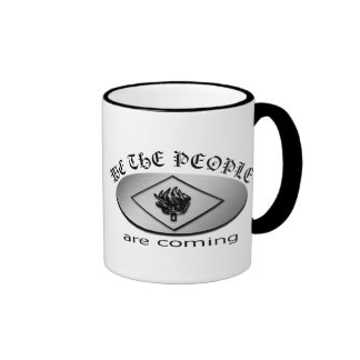 We the People Metallic Shield Logo with Torch Ringer Mug