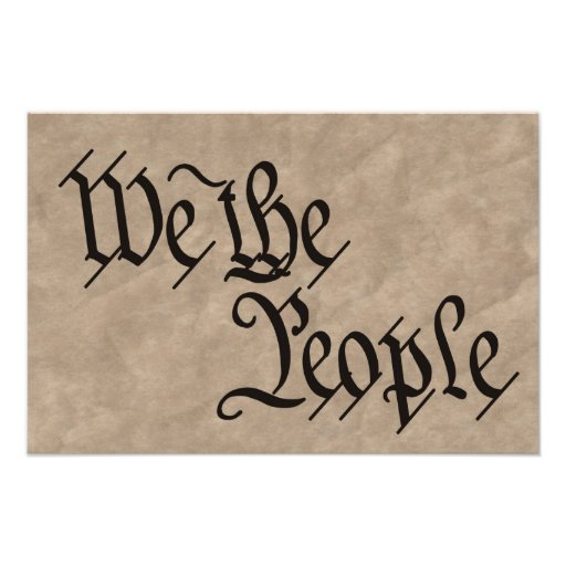 We The People / Parchment Poster