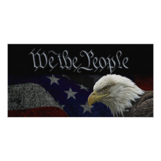 We The People Patriotic Card Photo Card Template