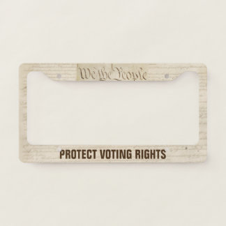 We The People Protect Voting Rights License Plate Frame