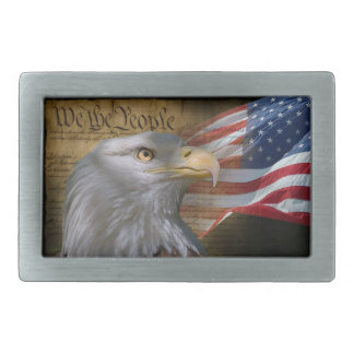 We The People Rect Belt Buckle