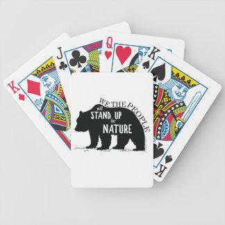 We the people stand up for nature - bear bicycle playing cards