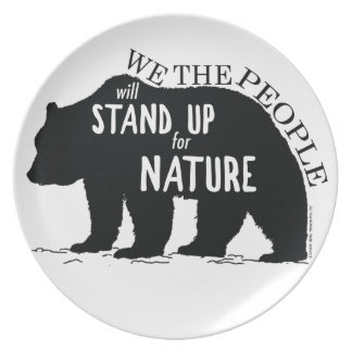 We the people stand up for nature - bear plate