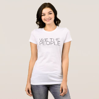 """We the People"" thin print T-Shirt"