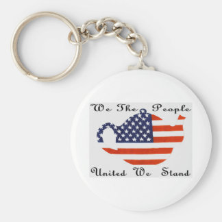 We The  People  United  We  Stand Keychain
