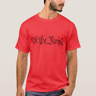 We The People US Declaration of Independence Mens T-Shirt