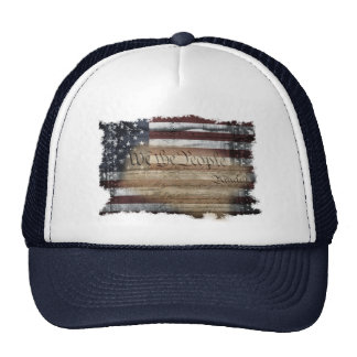 We The People Vintage American Flag Trucker Hat