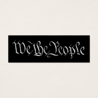 We the People White Profile Card