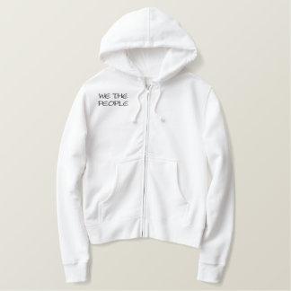 """We The People"" Women's Embroidered Zip Hoodie"