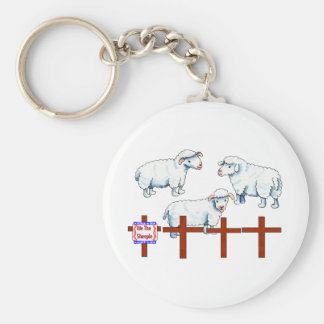 We The Sheeple Basic Round Button Keychain