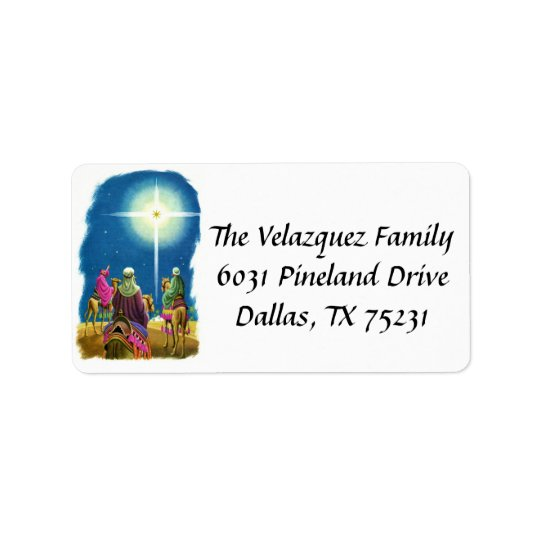 We Three Kings Address Label