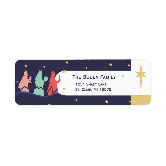 We Three  Kings  | Holiday Address Labels