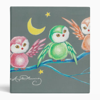 We Three Owls Vinyl Binder