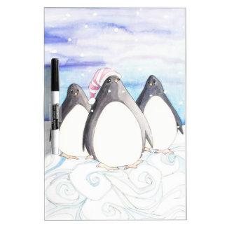 We three Penguins Dry Erase Board