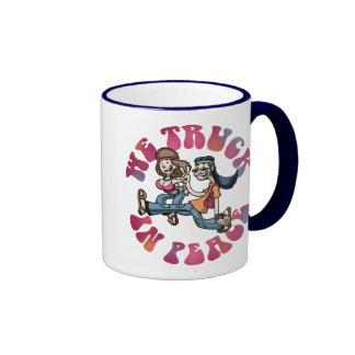 We Truck In Peace Coffee Mug