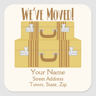 We ve Moved - Vintage Suitcases Stickers