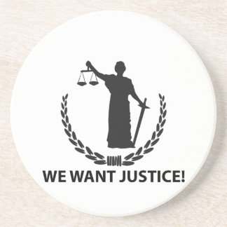 We Want Justice Beverage Coaster