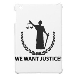 We Want Justice iPad Mini Cover