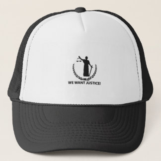 We Want Justice Trucker Hat