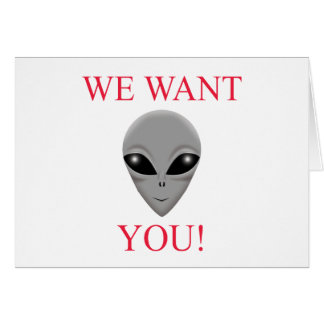 WE WANT YOU! CARD