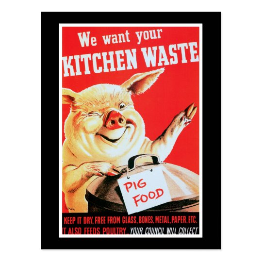 We Want Your Kitchen Waste Postcard