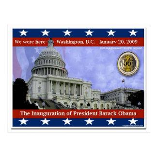 We Were Here - 2009 Inauguration of Barack Obama Postcard