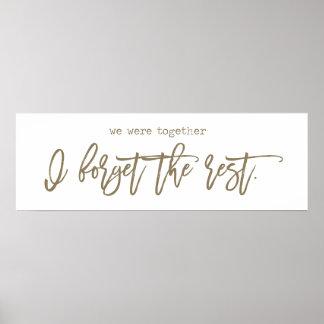 We Were Together Walt Whitman Wall Art Gold