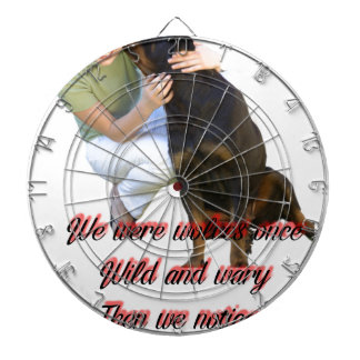 We were wolves once dartboard